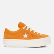 Converse Women's One Star Platform Ox Trainers - Field Orange/White