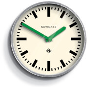 Newgate Luggage Wall Clock - Green Hands