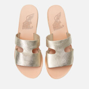 7240ae2122b9 Ancient Greek Sandals Women s Apteros Metallic Leather Slip on Sandals -  Platinum Sand