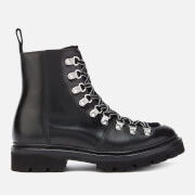 Grenson Women's Nanette Leather/Shearling Hiking Style Boots - Black