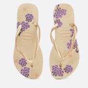 Havaianas Women's Slim Organic Flip Flops - Sand Grey