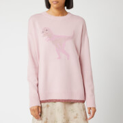 Coach 1941 Women's Rexy Crew Neck Intarsia Jumper - Pink/Multi