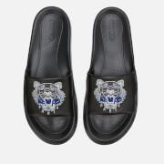 KENZO Men's Tiger Head Pool Slide Sandals - Black