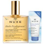 NUXE Huile Prodigieuse Riche with Crème Fraiche Riche (Worth £40.75)