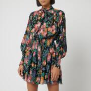 Zimmermann Women's Allia Shirred Short Dress - Black Floral
