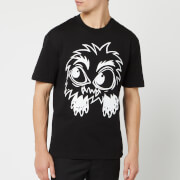 McQ Alexander McQueen Men's Monster Rally Dropped Shoulder T-Shirt - Darkest Black
