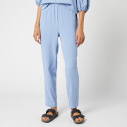 Ganni Women's Heavy Crepe Trousers - Forever Blue