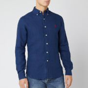 Polo Ralph Lauren Men's Slim Fit Linen Shirt - Holiday Navy