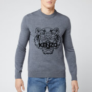KENZO Men's Tiger Head Knit Jumper - Pale Grey