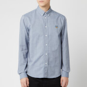 KENZO Men's Crest Casual Fit Shirt - Navy Blue