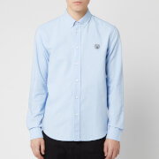 KENZO Men's Crest Casual Fit Shirt - Light Blue