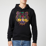 KENZO Men's Classic Tiger Embroidered Overhead Hoodie - Black