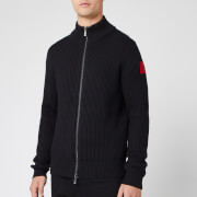 HUGO Men's Sambre Heavy Gauge Patch Logo Knit Jumper - Black