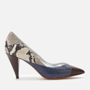 Isabel Marant Women's Payley Exotic Patchwork Court Shoes - Brown/Blue