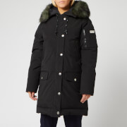 KENZO Women's Technical Outerwear Nylon Long Parka - Black