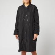 KENZO Women's Light Nylon Hooded Mac - Black