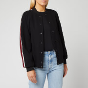 KENZO Women's Crepe Back Satin Bomber Jacket - Black