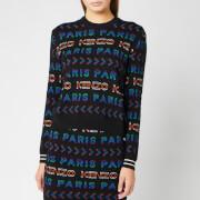 KENZO Women's Wool Allover Kenzo Jacquard Jumper - Multi