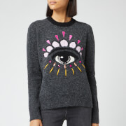KENZO Women's Wool Embellished Eye Jumper - Anthracite