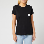 KENZO Women's Tiger Crest Cotton Single Jersey T-Shirt - Black