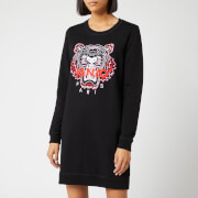 KENZO Women's Classic Tiger Moleton Sweat Dress - Black