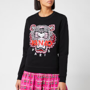 KENZO Women's Classic Tiger Light Moleton Sweatshirt - Black