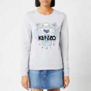KENZO Women's Classic Tiger Light Moleton Sweatshirt - Pearl Grey