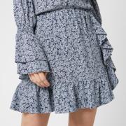 MICHAEL MICHAEL KORS Women's Paint Reef Ruffle Skirt - True Navy