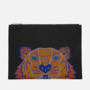 KENZO Women's Icon Tiger A4 Pouch - Black