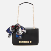 Love Moschino Women's Shoulder Bag with Scarf - Black