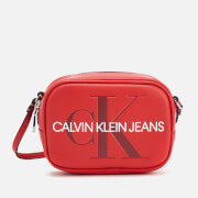 Calvin Klein Jeans Women's Monogram Camera Bag - Cherry