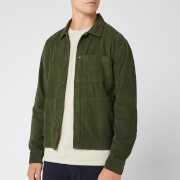 Universal Works Men's Fine Cord Uniform Shirt - Green