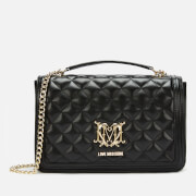 Love Moschino Women's Quilted Shoulder Bag - Black