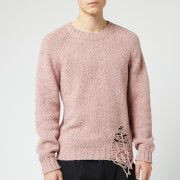 Maison Margiela Men's Distressed Jumper - Pink