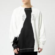 Maison Margiela Men's Ripped Print Sweatshirt - Off White