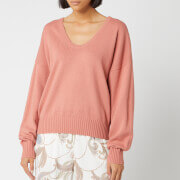 See By Chloé Women's V Neck Knit Jumper - Canyon Clay