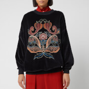 See By Chloé Women's Velour Sweatshirt - Black