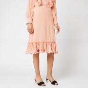 See By Chloé Women's Frill Bottom Skirt - Smokey Pink