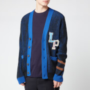 Lanvin Men's Varsity Cardigan - Anthracite Blue