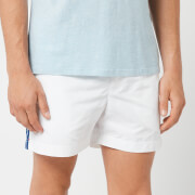 Orlebar Brown Men's Setter Tape Swim Shorts - White/Bahama Blue