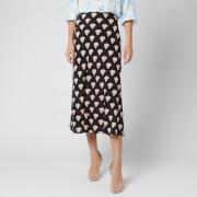 RIXO Women's Kelly Skirt - Gold Foil Shell