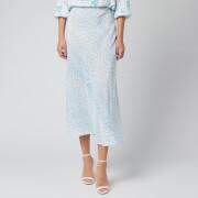 RIXO Women's Kelly Skirt - Ombre Blue Leopard