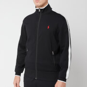 Polo Ralph Lauren Men's Stripe Full Zip Through Double Knit Tech Hoody - Black/White