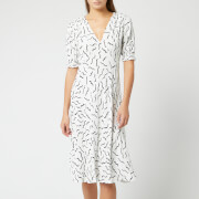 Diane von Furstenberg Women's Jemma Dress - Abstract Lines White