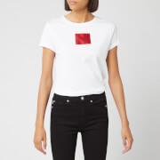HUGO Women's Dennja Box Logo T-Shirt - White