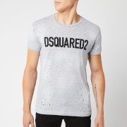 Dsquared2 Men's Logo Paint Splash T-Shirt - Grey Melange
