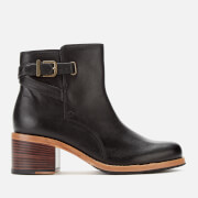 Clarks Women's Clarkdale Jax Leather Heeled Ankle Boots - Black
