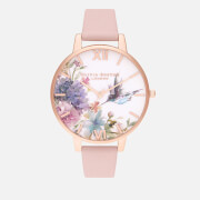 Olivia Burton Women's Painterly Prints Watch - Dusty Pink & Rose Gold