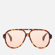 Gucci Men's Aviator Style Sunglasses - Havana