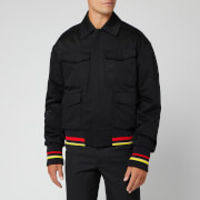 JW Anderson Men's Multi Pocket Quilted Bomber Jacket - Black